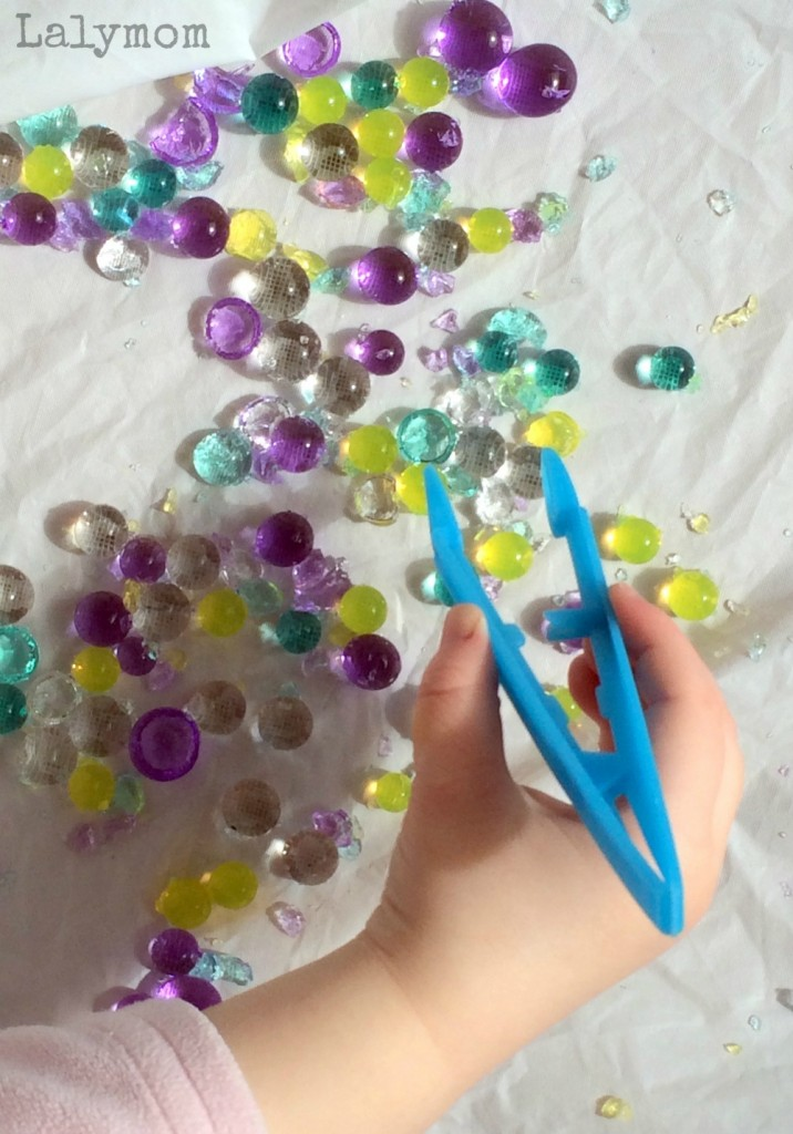 photo ideas for babies and toddlers - Hammering Water Beads Fine Motor Activities for