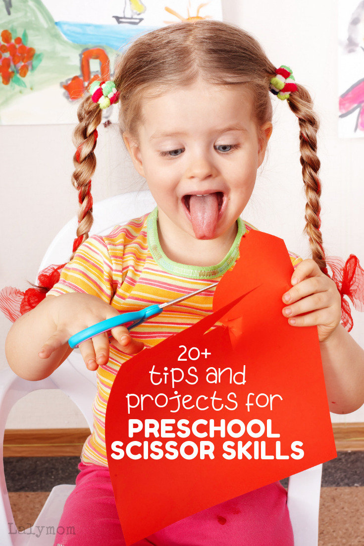 Preschooler Cutting Paper is just the start. 20+ tips and projects for preschool scissor skills.