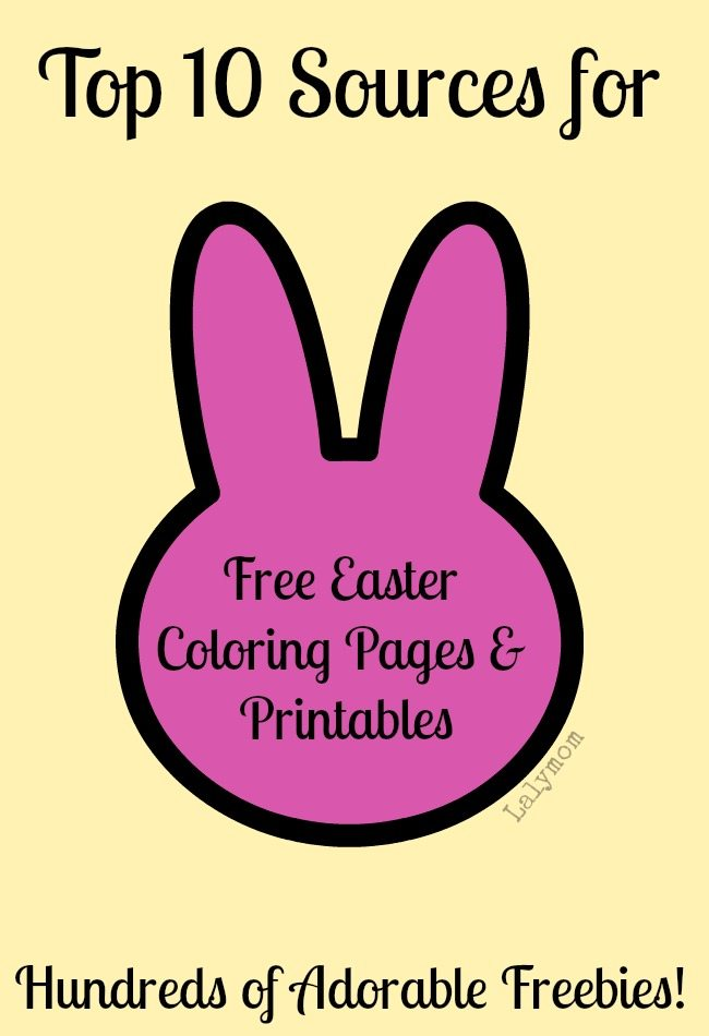 Best Sources for FREE Easter Coloring Pages and Printables from Lalymom
