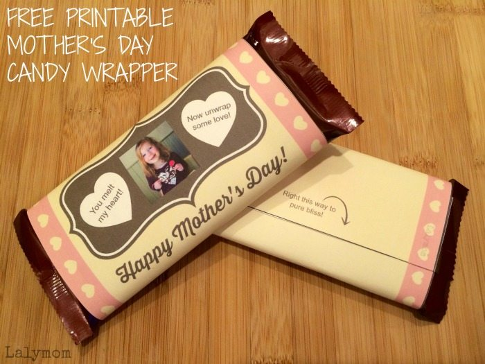 DIY Mother's Day Gift - Photo Candy Bar Wrapper by Lalymom #SharetheDove