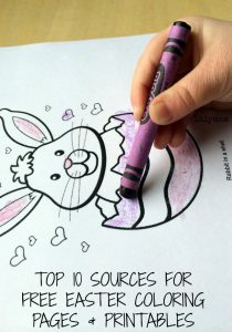 Easter Coloring Pages and Printable Activities for Kids from Lalymom