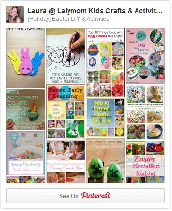 Easter Crafts, Activities and Ideas Pinterest Board from Lalymom