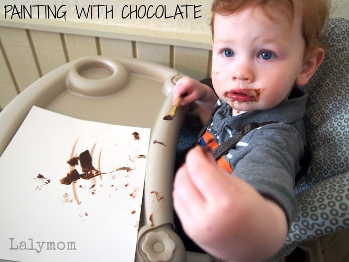 Baby Safe Edible Paint Using Chocolate from Lalymom