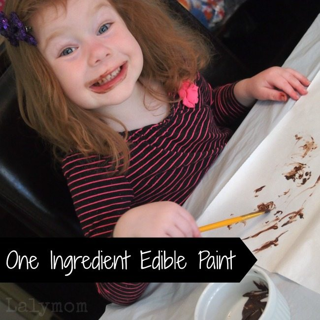 Painting with Chocolate Edible Paint from Lalymom
