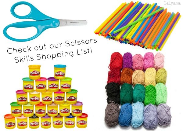 Scissory Skills Shopping List from Lalymom