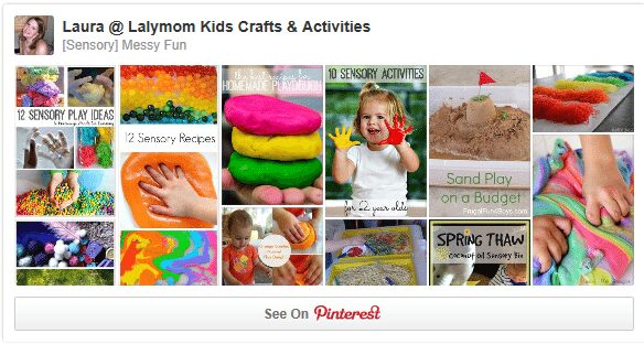 Sensory Activities and Messy Fun Pinterest Board from Lalymom