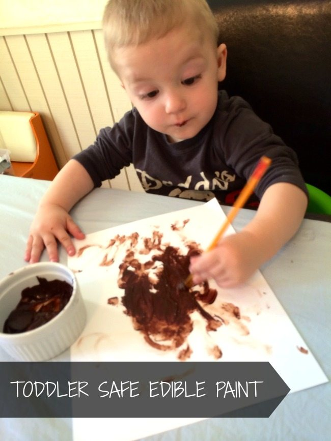 Toddler Safe Edible Paint Using Chocolate on Lalymom