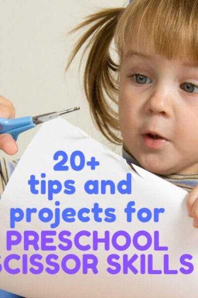 preschooler using scissors, so many tips tricks and cutting activities