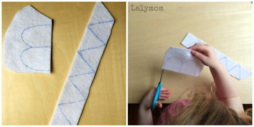 Dinosaur Crafts for Preschoolers that promote scissors skills from Lalymom
