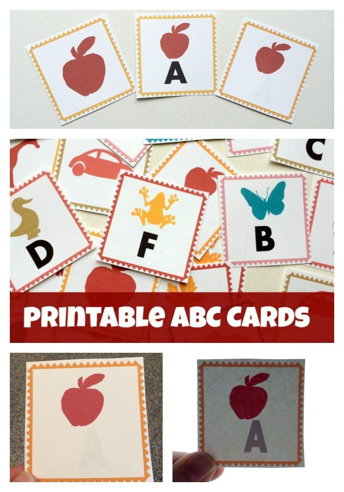 Printable ABC Letter Cards from Lalymom - These printable cards come in three formats- flash cards, memory match and magic reveal for use with light tables and windows! Come print yours today!
