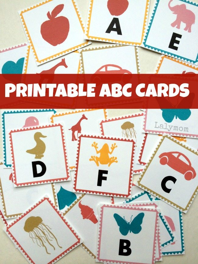 graphic regarding Alphabet Matching Game Printable called ABC Letters Printable Alphabet Playing cards - LalyMom