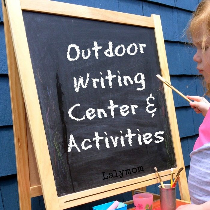 Summer Writing Activities for Kids Using an Outdoor Writing Center - Great for Preschoolers to get ready for preschool on Lalymom