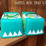 Wipes Box Dino Stilts make fun Dinosaur Activities for Preschoolers! These Dinosaur Feet Stilts for Kids are made from Wipes Containers. Great for Gross Motor Skills Development! from Lalymom