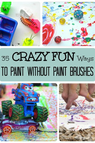 35 CRAZY FUN Ways to Paint Without Paint Brushes