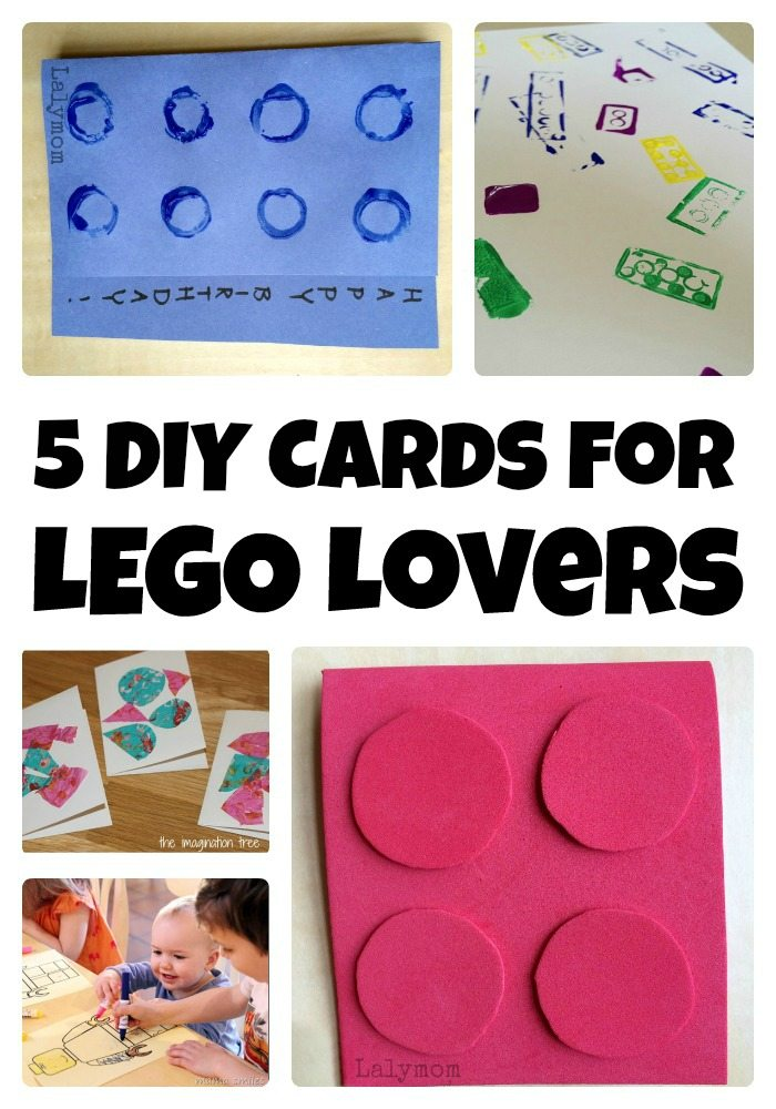 5 Diy Lego Birthday Card Tutorials Lalymom