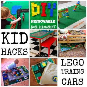 Kid Hacks 30 Space Savers for Kids Play Including LEGO, Trains and Cars on Lalymom.com