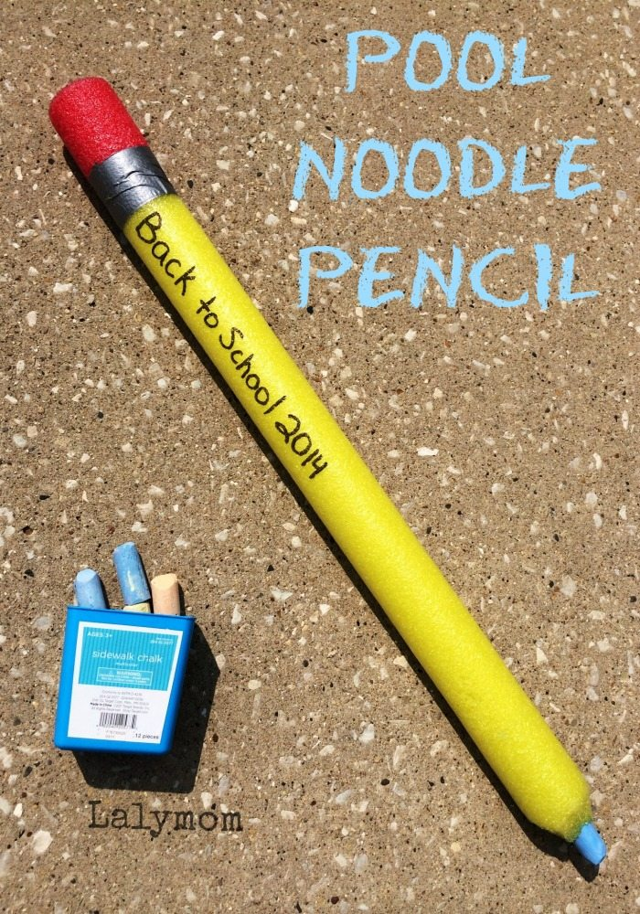 Back to School Craft - Pool Noodle Pencil on Lalymom.com