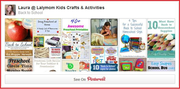 Back to School Crafts, Recipes and Ideas from the Lalymom.com Back to School Pinterest Board