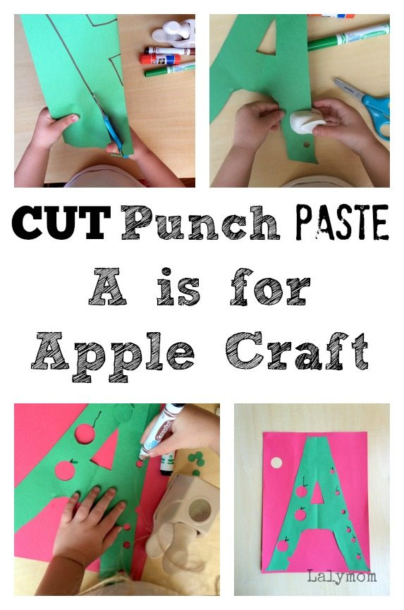CUT Punch Paste A is for Apple Craft on Lalymom.com
