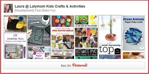 For over 600 Fine Motor Skills Ideas, Follow the Lalymom Fine Motor Fun Pinterest Board! #OT #EarlyEd #KBN