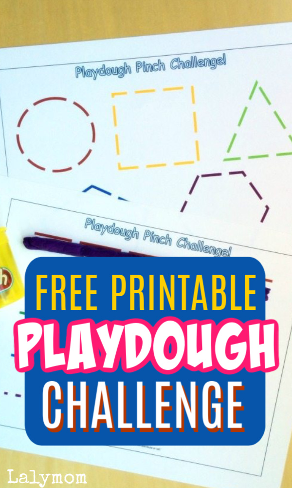 Free Printable Play Dough Challenge for kids