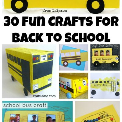 30 FUN Back to School Crafts