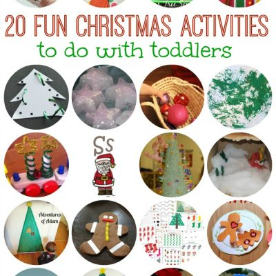 20 FUN Christmas Activities to do with Toddlers on Lalyom - I want to do some of these this year!