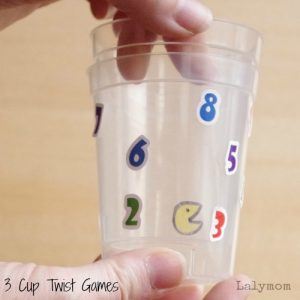 3 Fine Motor Games for Kids Using Plastic Cups on Lalymom.com - How easy and fun are these!