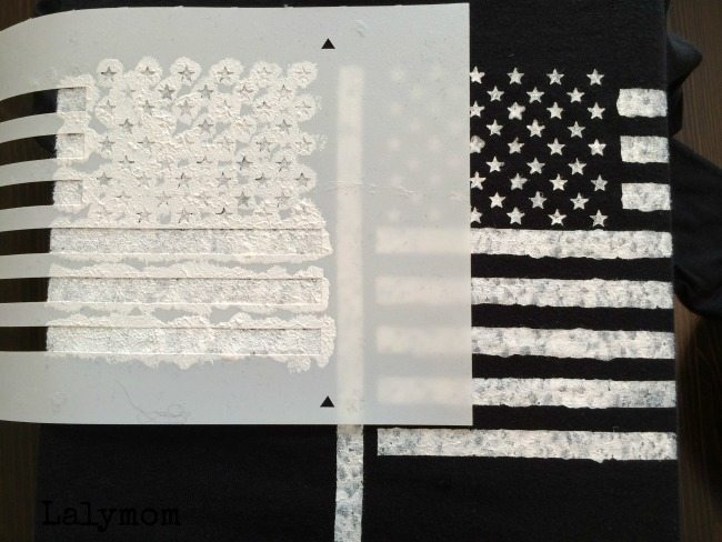 First time stenciling tips from lalymom. Sponsored post by Folkart Stencils and Paints
