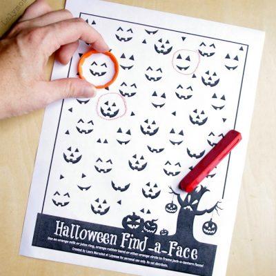 Printable Preschool Halloween Games Worksheet