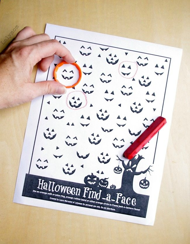 graphic about Printable Visual Scanning Worksheets for Adults called Printable Preschool Halloween Game titles Worksheet - LalyMom