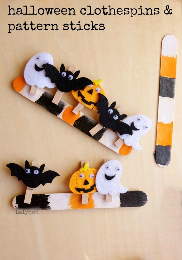 Fun Halloween Fine Motor Skills Activity Using Pattern Sticks and Clothespins - those are so cute!