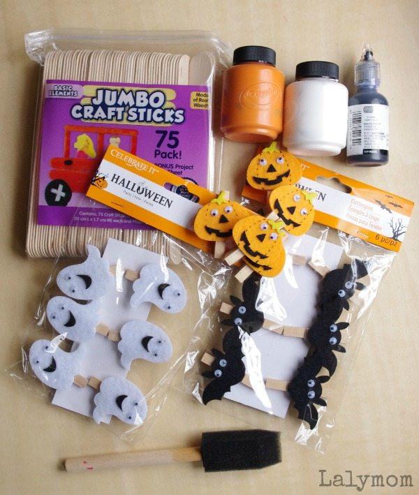 Halloween Clothespins & Pattern Sticks Fine Motor Activity Tutorial on Lalymom.com