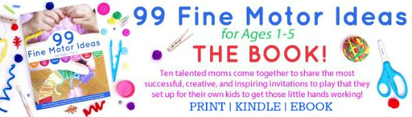 99 Fine Motor Ideas for Ages 1 to 5 - Available in Print, Kindle and eBook editions on Lalymom.com