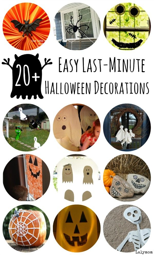 List of 20+ Easy Last Minute DIY Halloween Decorations on Lalymom.com - how fun!