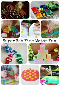 Super Fab Fine Motor Fun - Fine Motor Fridays Anniversary on Lalymom.com - so many fun ideas!