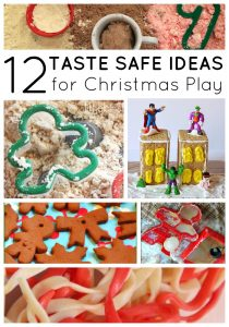 12 Taste Safe Christmas Sensory Play Ideas on lalymom.com