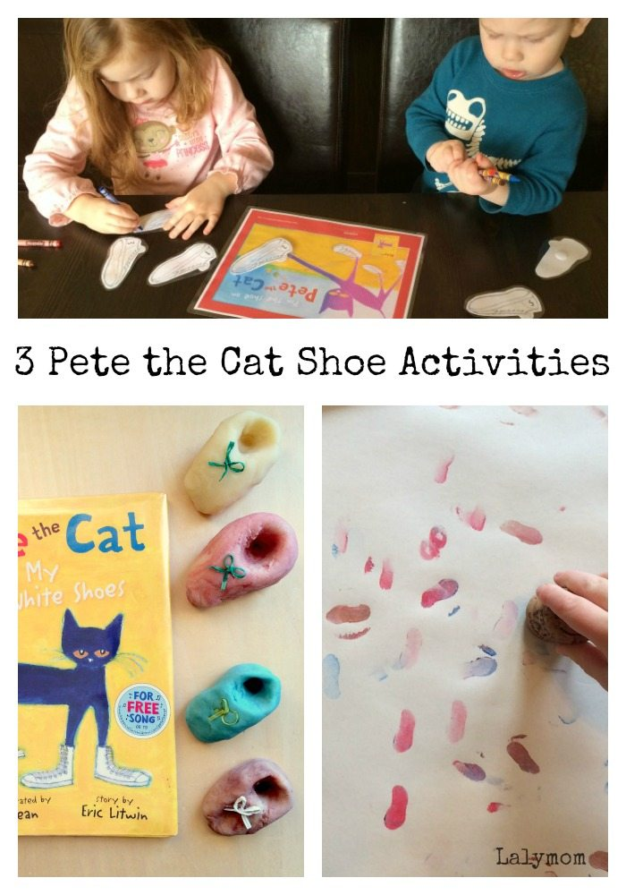 3 Pete the Cat I Love My White Shoes Book Extension Ideas for Preschoolers and Toddlers on Lalymom.com