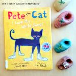 Click for 3 Pete the Cat I Love My White Shoes Activities, including color-changing play dough shoes on Lalymom.com. - my toddler an preschooler LOVE this book!