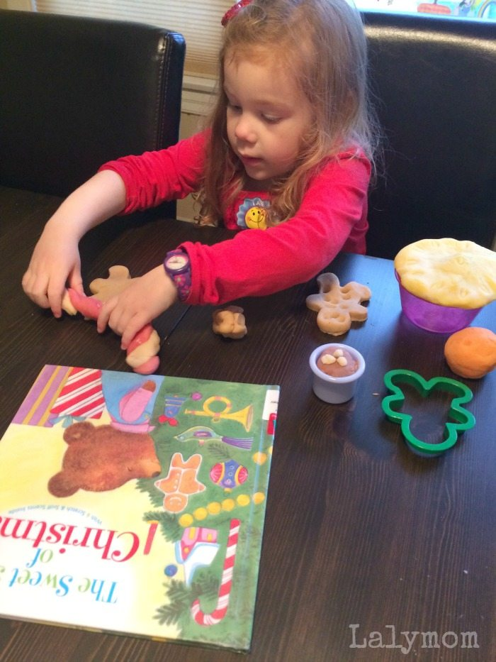 DIY Play Dough Recipe to Pair with Sweet Smell of Christmas - great Christmas Book extension activity!
