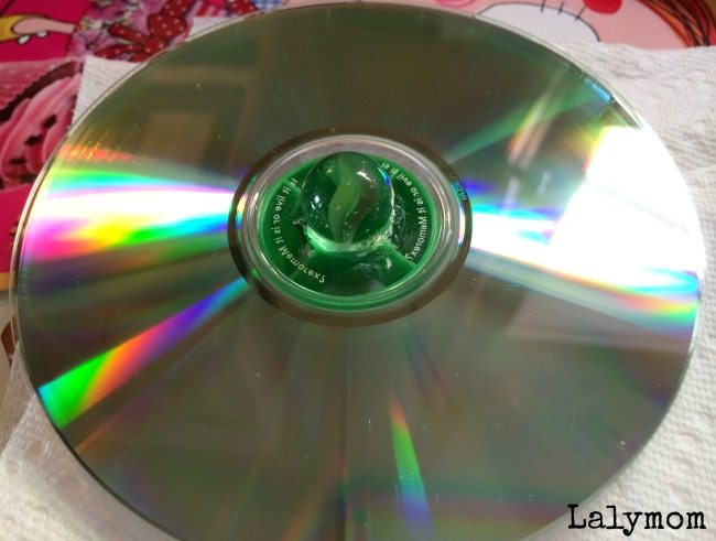 Lalymom Spinning CD Tops Tutorial
