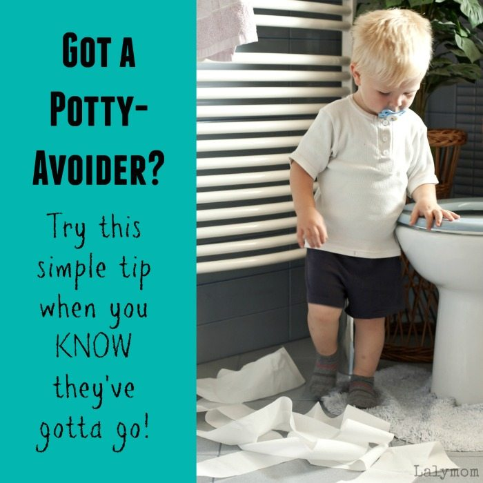 Potty Training Problems - Try this simple tip when your kid avoids the potty - Quick tip from Lalymom.com