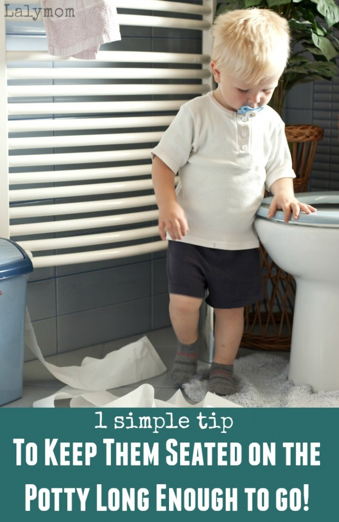 Potty Training Problems - When your Kid Will Not Sit on the Toilet Long Enough to Go- Great tip!