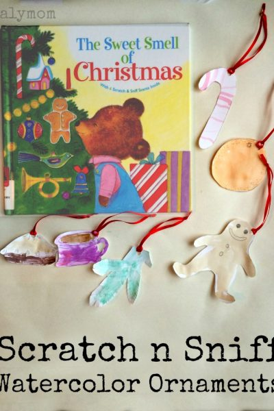Christmas Ornaments for Kids to Make with Scratch n Sniff Watercolors