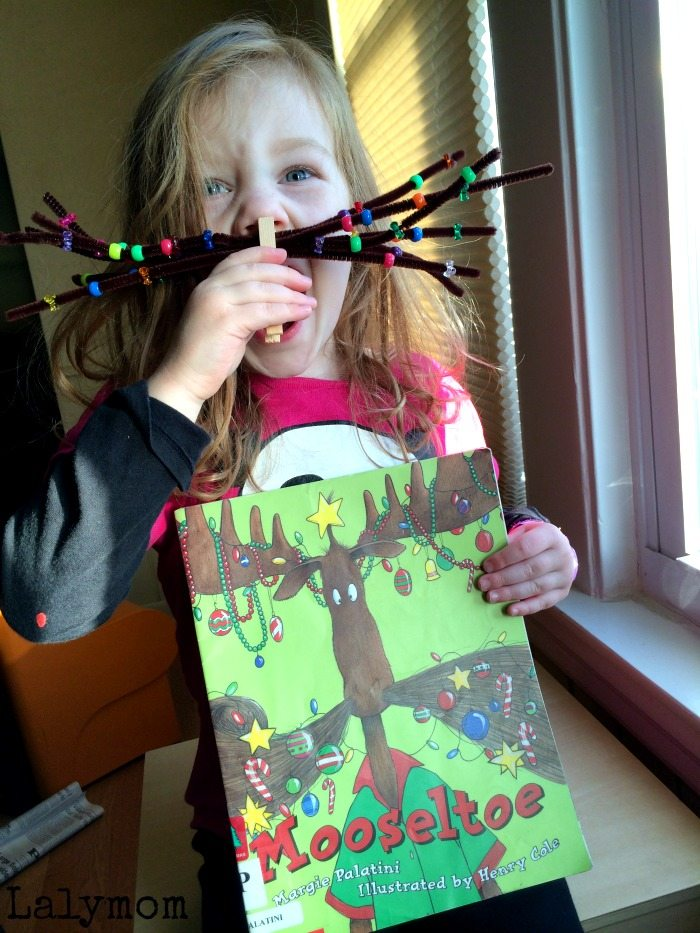 3 FUN Mooseltoe Christmas Moosestache Activities for Kids on Lalymom.com - Click to see all three! What a fun Christmas book activity!