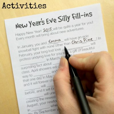 3 Free Printable New Year's Eve Activities for Kids - Silly Fill-ins on Lalymom.com