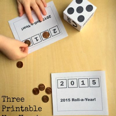 Printable Roll-a-Year New Year's Eve Activity and other printable games on Lalymom.com