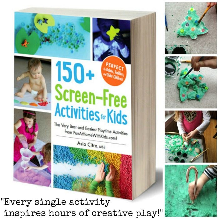 Salt Sculptures from a Review of the book 150+ Screen Free Activities for Kids