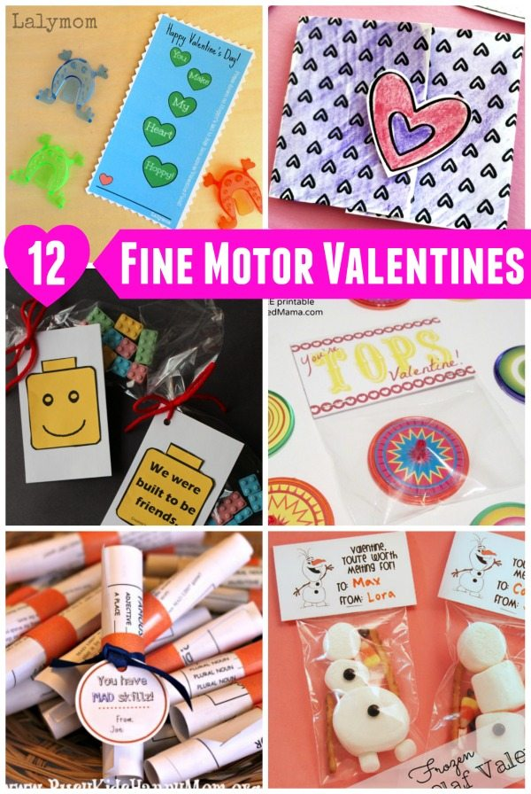 12 Fun Valentines for Kids that Promote Fine Motor Skills too! How FUN!
