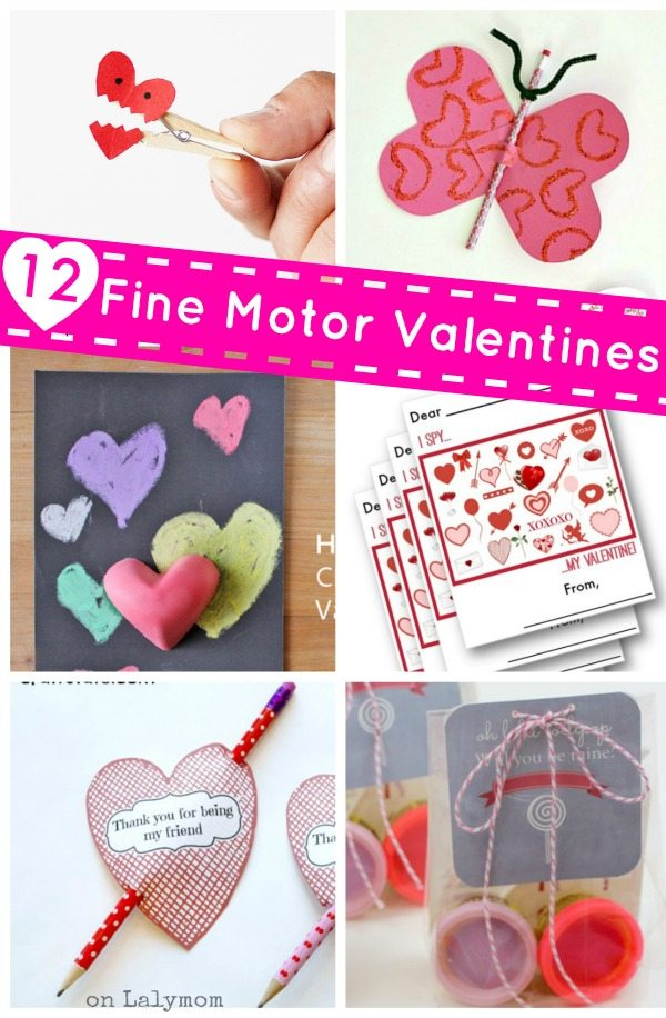 12 Kids Valentines that Promote Fine Motor Skills - How cute are these!